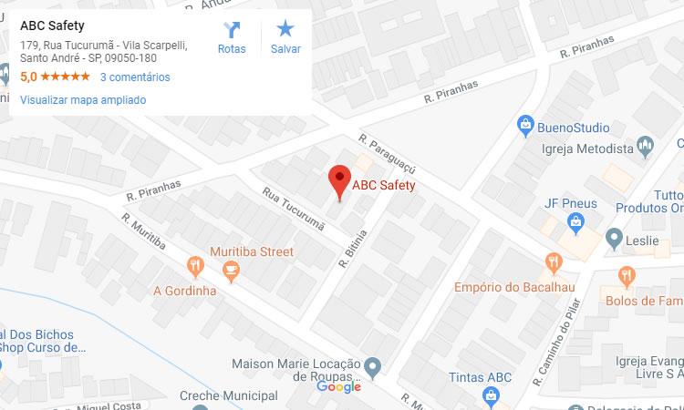 Localização de Distribuidora de Equipamentos para Segurança em Santo André, São Paulo